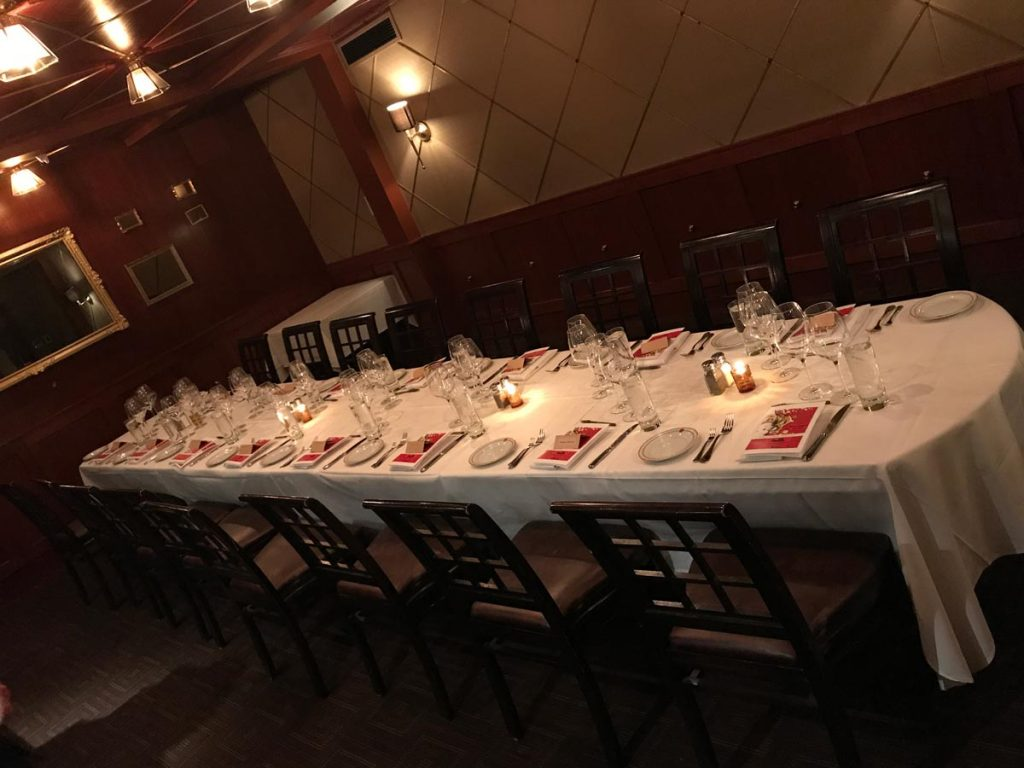Maloney and porcelli wine dinner